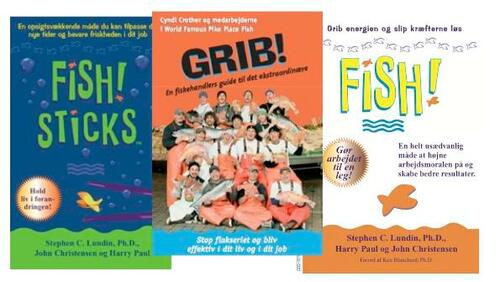 Become a fan of FISH! with three FISH! books in a range. When 12 fishmongers can become extraordinary your team can too.