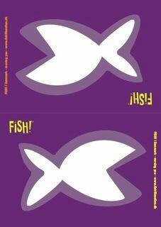 The FISH! nameplate in a flat version. Use it as a nameplate on table and a great tool for praise.