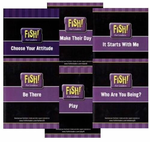 Leader FISH! are examples on film with a written guide, so you and your leader team can look yourself in a mirror.