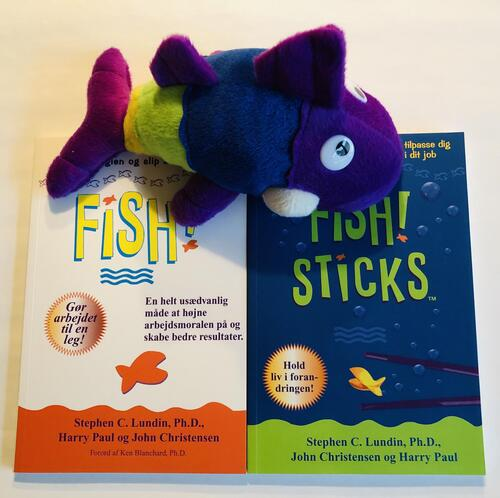 Two cool FISH! books with a thick bookmark.