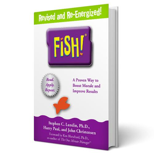 FISH! book in english language. Catch the energy and release the potential.