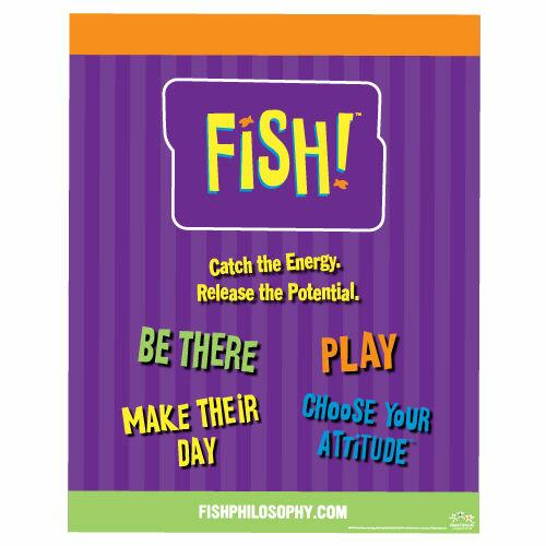 Use FISH! for your own behavior, the team behavior and in your training technique, it is on this training course that you get shoals of tips and ideas on how to go about it.