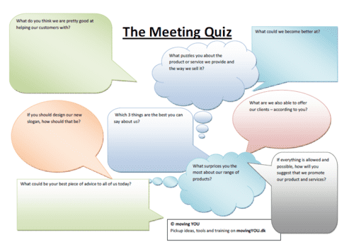 This is fun and purposeful at the same time. Quiz a guest or your team at your next team-briefing.